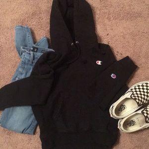 XS black champion jacket